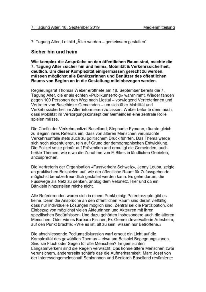 thumbnail of Medienmitteilung Alterstagung
